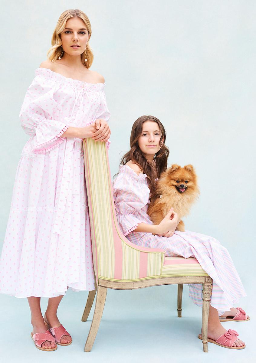 BN003 Pyjama Baby Doll Swiss Pink Dot Cotton - BN003 Pyjama Baby Doll Candy Stripe