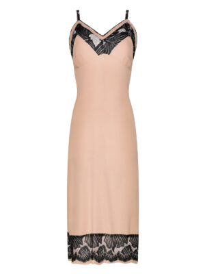 Nude Silk Slip Dress