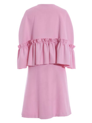 VL 0011 Peggy Pink pure cashmere frill cape and skirt VL 0012