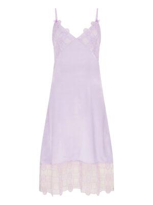 Palma violet lilac crochet Silk satin slip