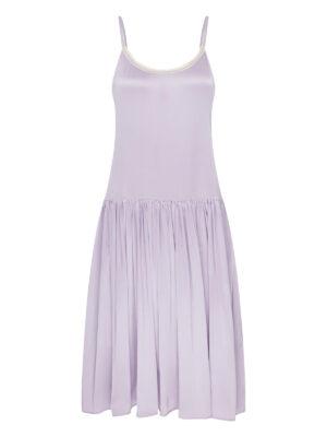 Lilac Lola silk Long slip dress