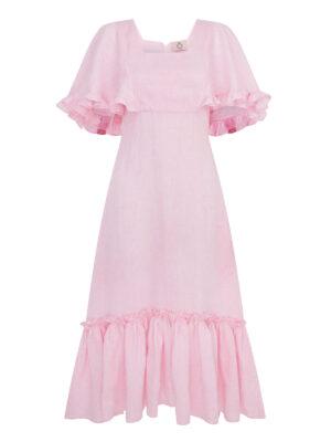 La la 002 - Venetian Dress 100% organic linen.