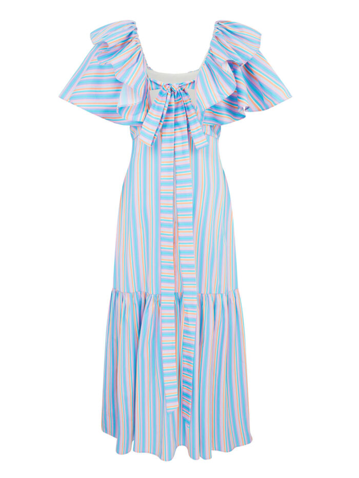 La la 008 Peggy Lipton Dress in Stripes - back