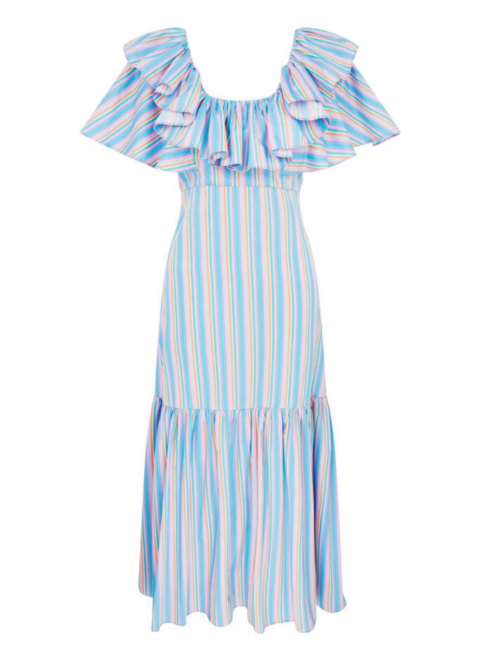 La la 008 Peggy Lipton Dress in Stripes