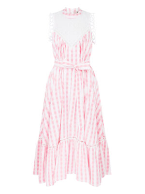 LA LA 014 Gypsy Getty Dressin Pink White Gingham