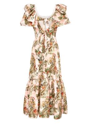La la 019 Peggy Lipton Dress Jungle Print