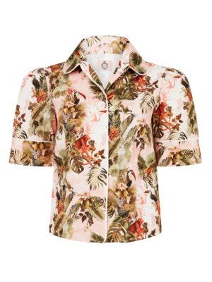 La La 023 Peggy Pyjama Top Jungle Print