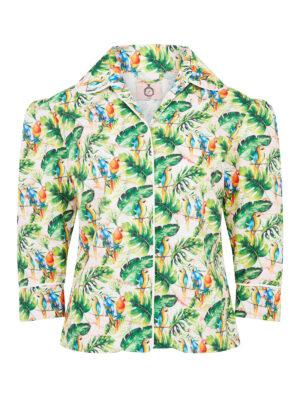 La La 023 Peggy Pyjama Top Parrot Print