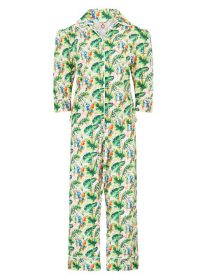 La La 041 Peggy Pyjama Set Parrot Print