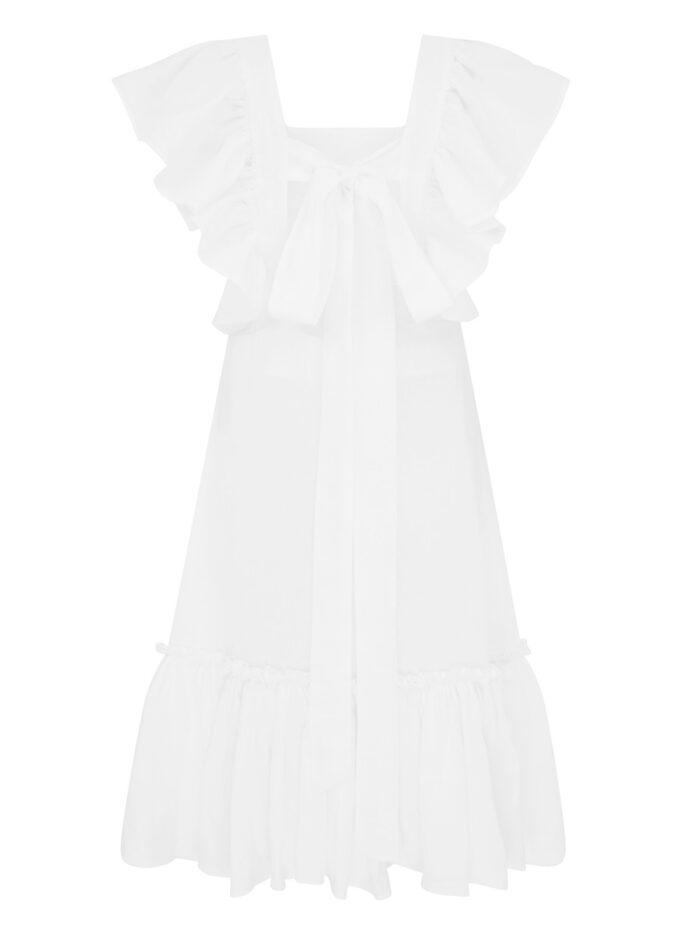 LA LA 011 Peggy Lipton Short Dress in White