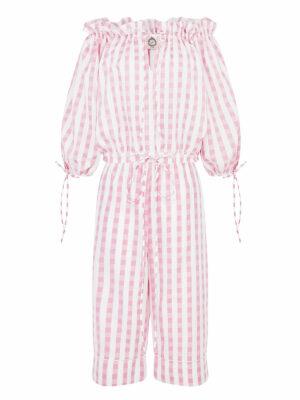 La La 025 Bel Air Pyjama Top and Peggy pants in gingham