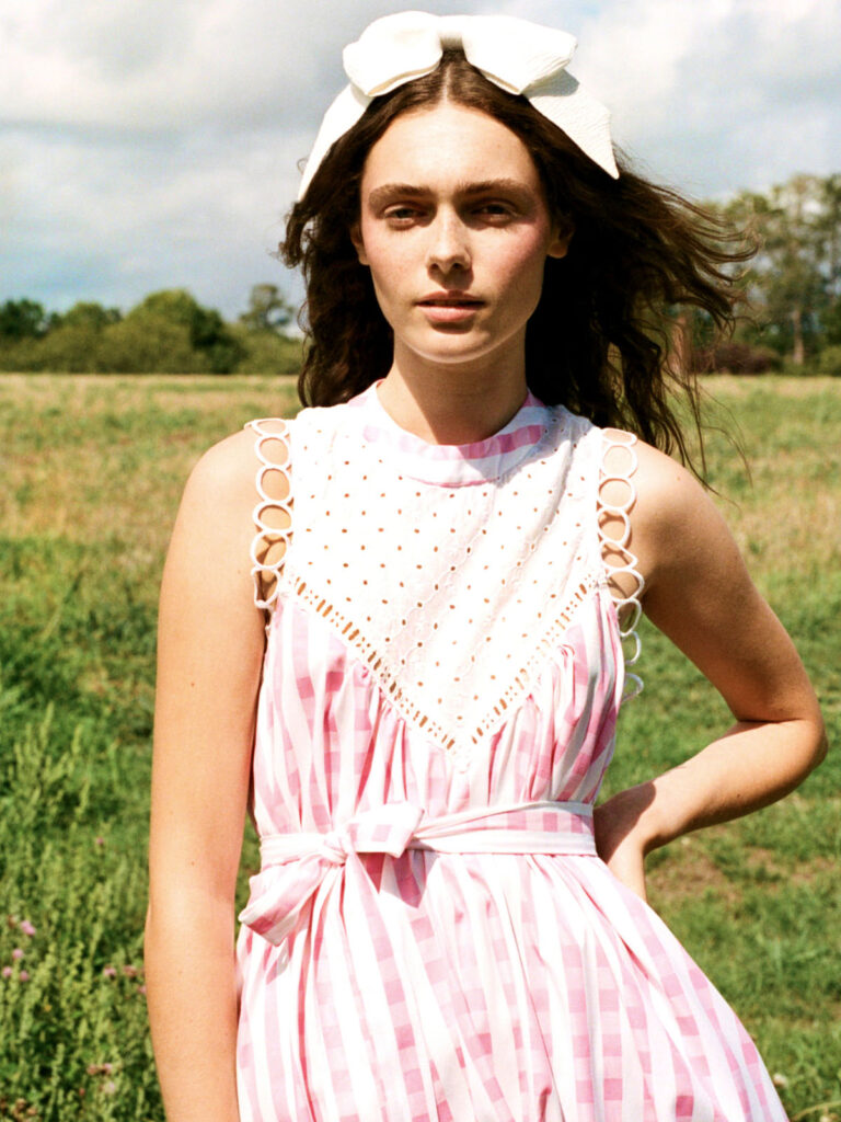 La La Lady Gypsy Getty Dress in Pink and White Gingham