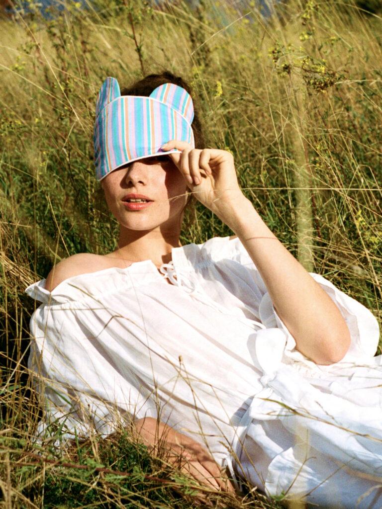La La Lady Bunny Eye Mask Multi Stripe