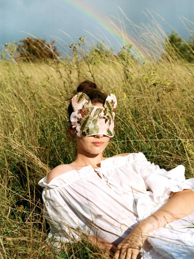 La La Lady Bunny Eye Mask Jungle Print