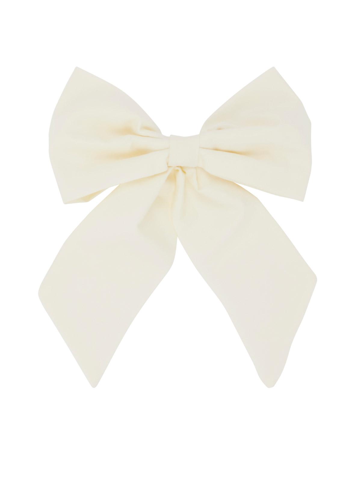 Cafe Society Large Bow Hair Clips Cream