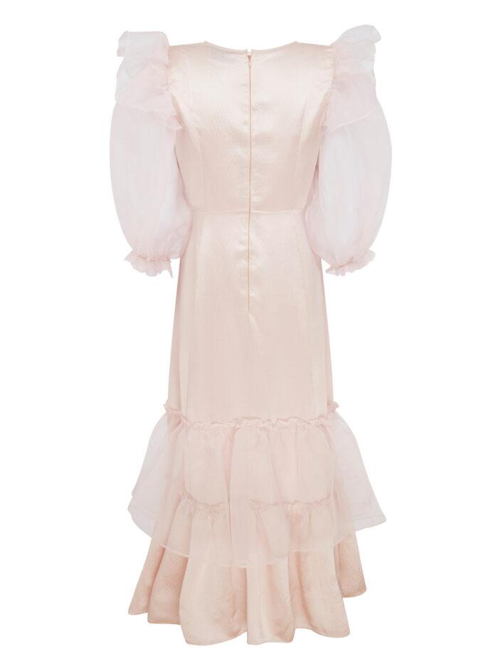 Cafe Society Silk Cloud Puff Dress