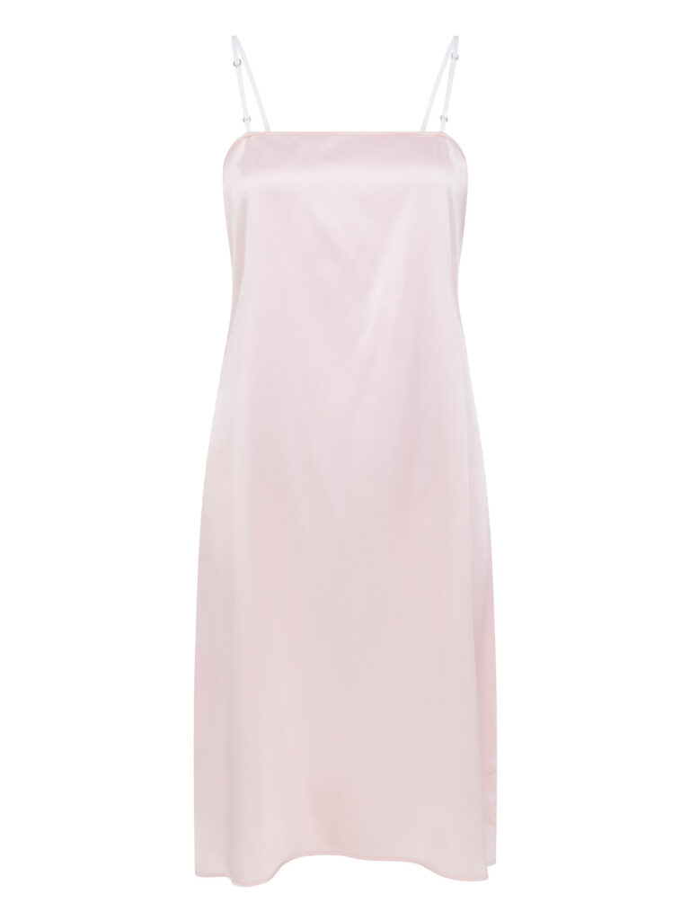 Cafe Society Silk Cloud Puff Slip Dress in Pink