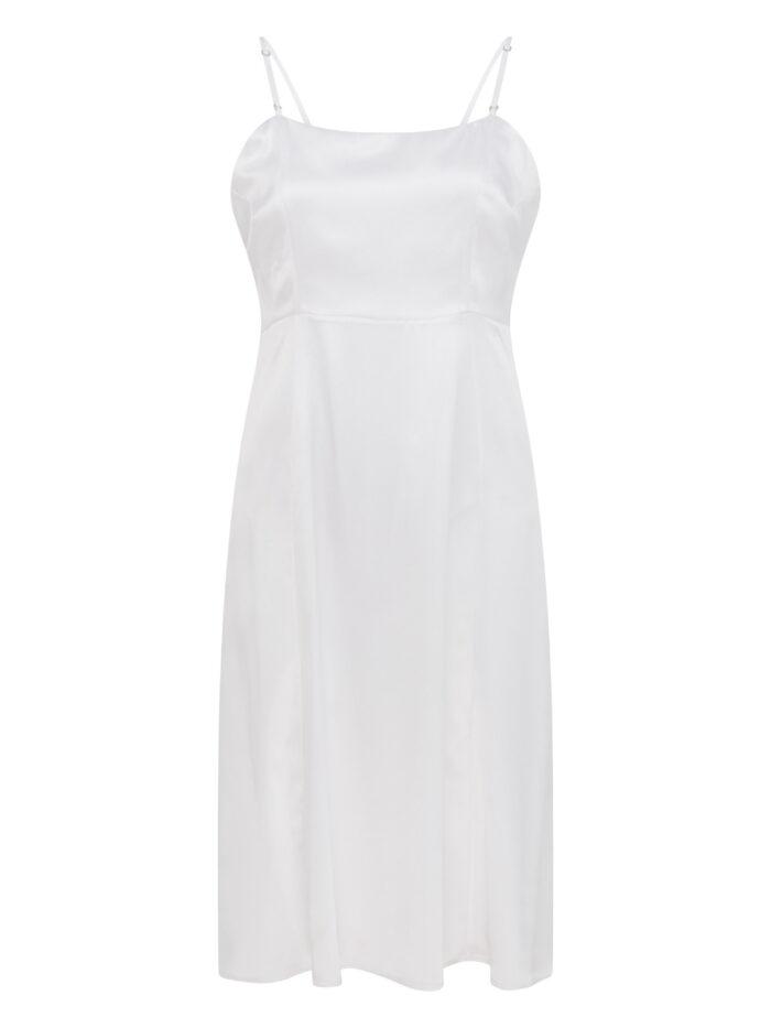Cafe Society Silk Cloud Dress Slip in White